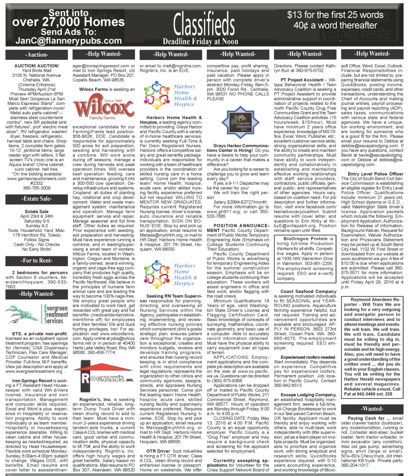 Classifieds 4.20.16