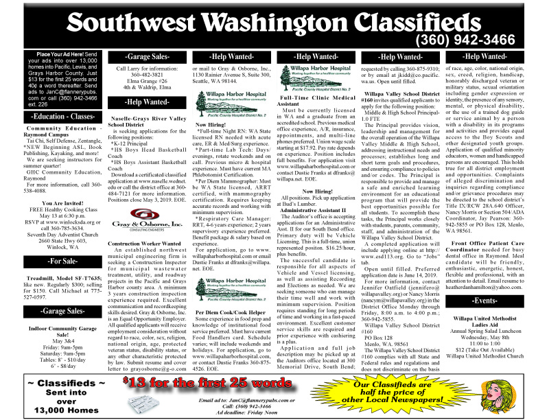 Classifieds 5.1.19