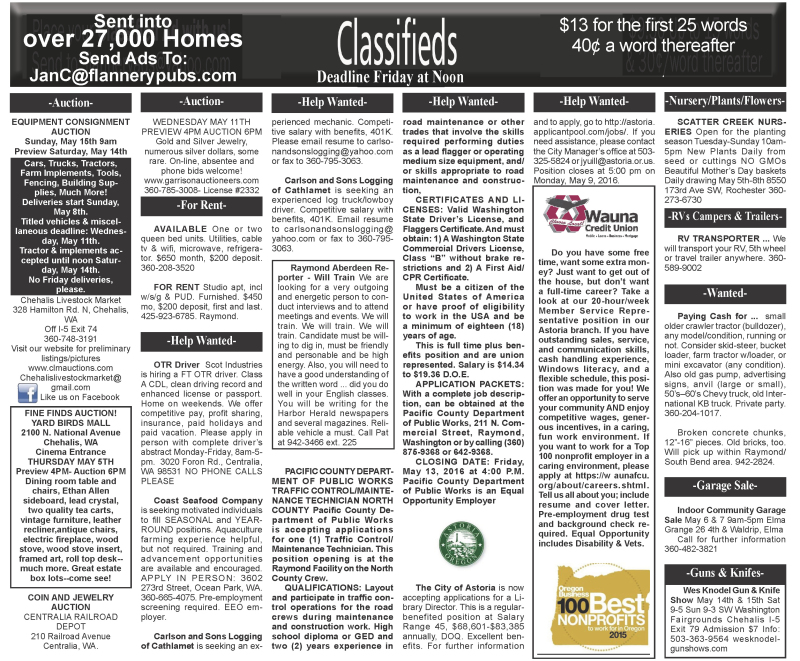 Classifieds 5.4.16