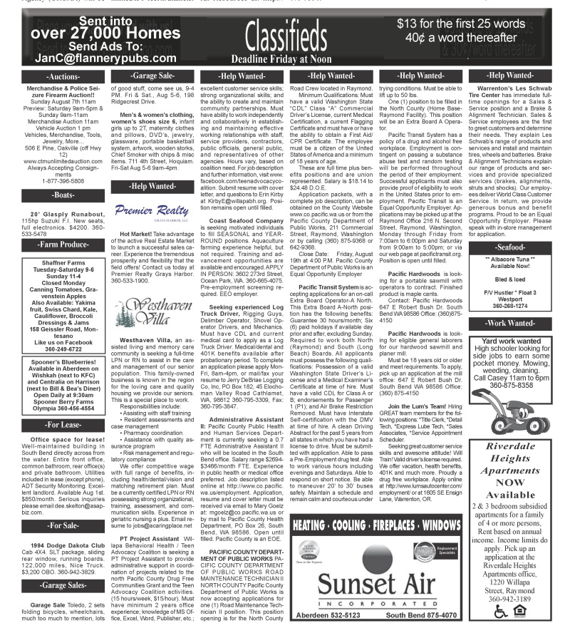 Classifieds 8.3.16