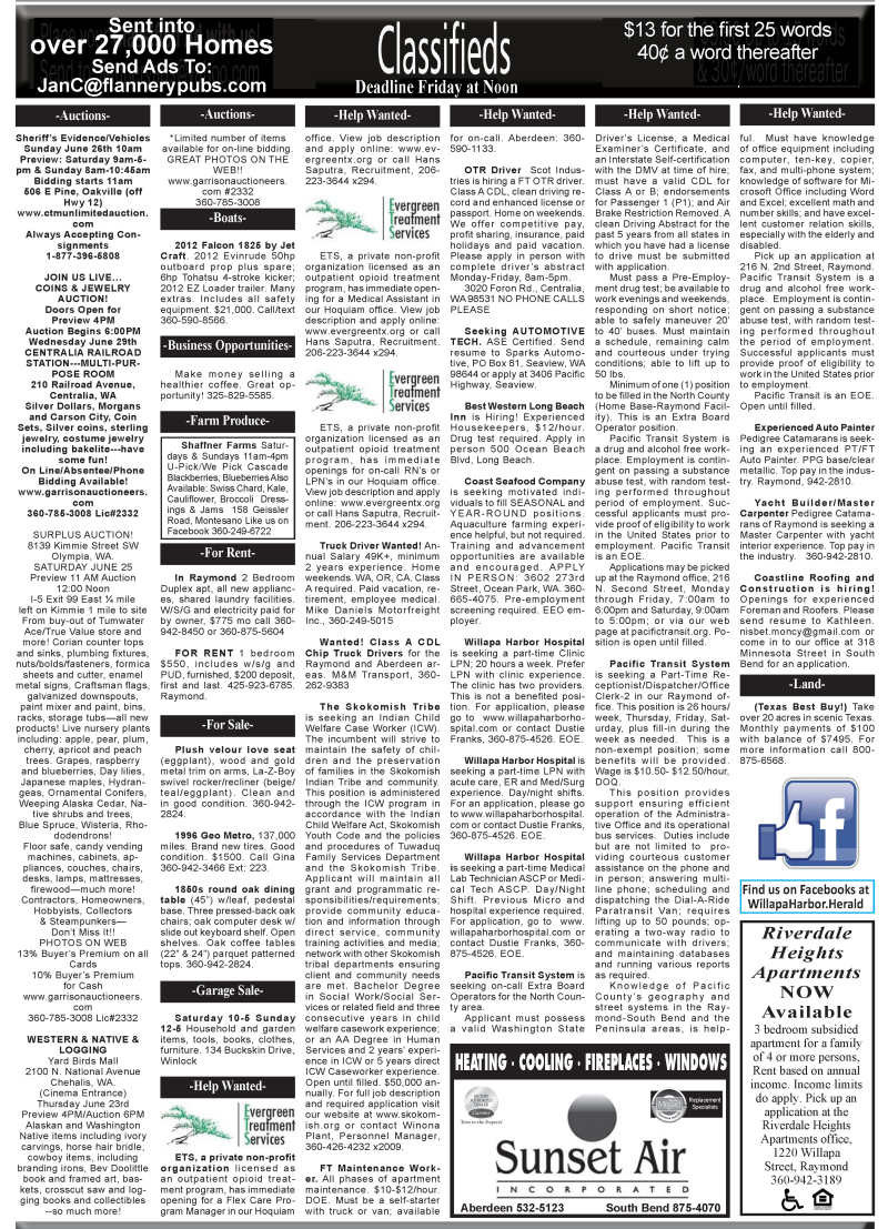 Classifieds 6.22.16