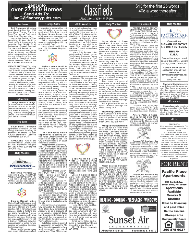 Classifieds 9.21.16