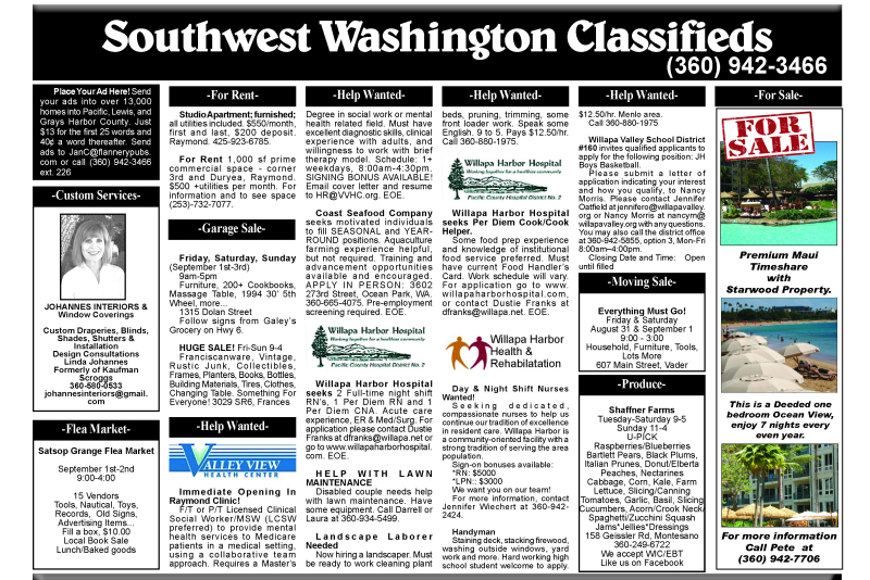 Classifieds 8.29.18