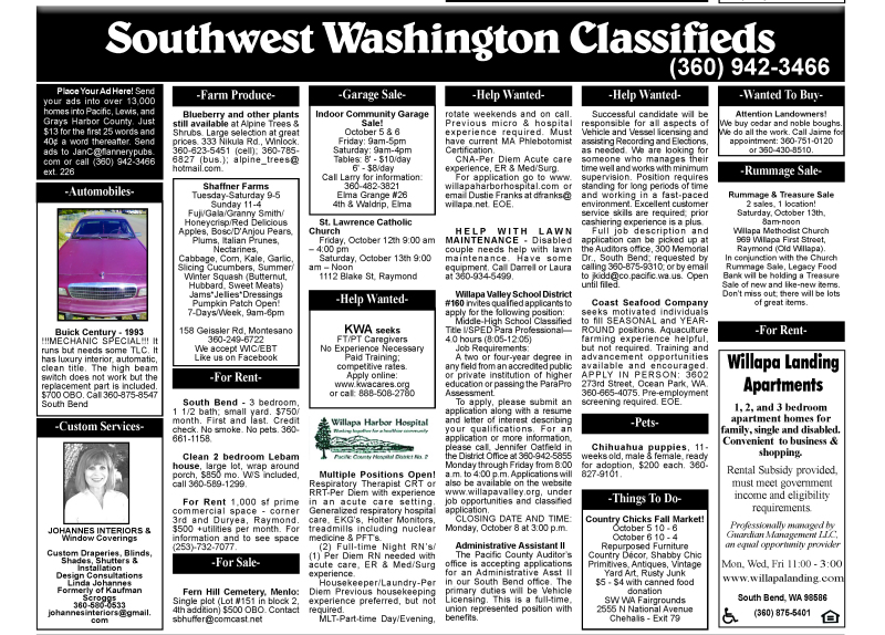 Classifieds 10.3.18