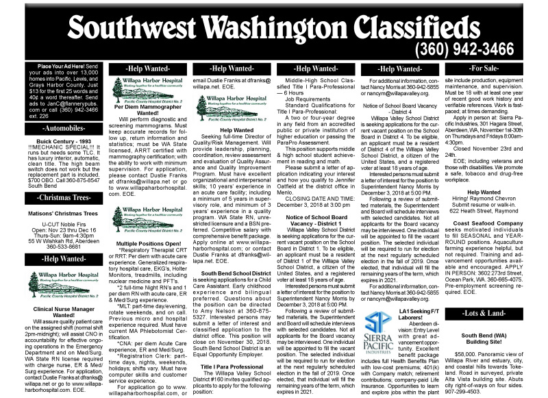 Classifieds 11.28.18
