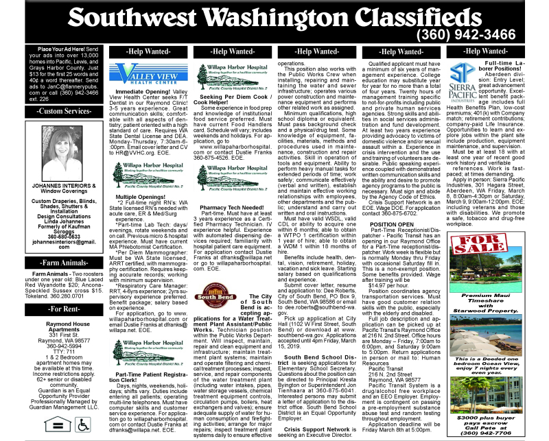 Classifieds 3.6.19