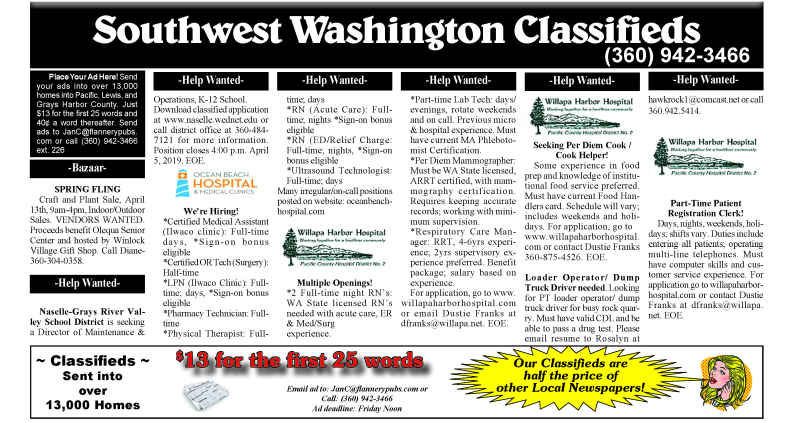 Classifieds 3.20.19