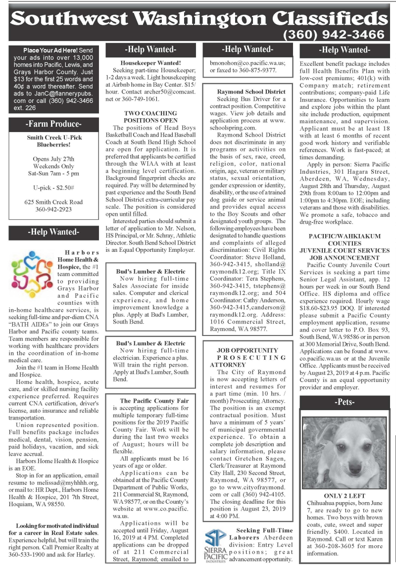Classifieds 8.14.19