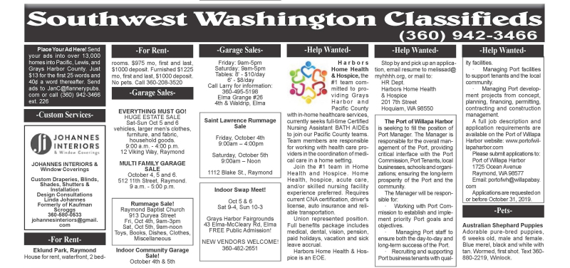 Classifieds 10.2.19