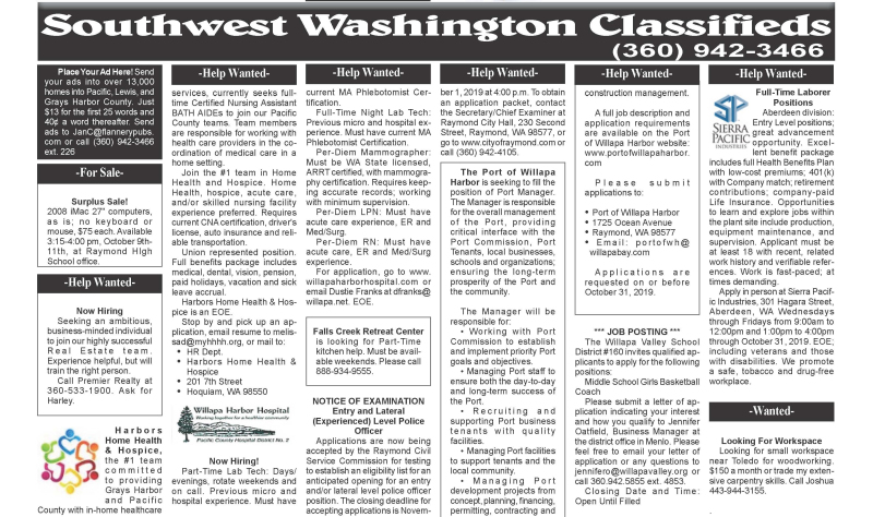Classifieds 10.9.19