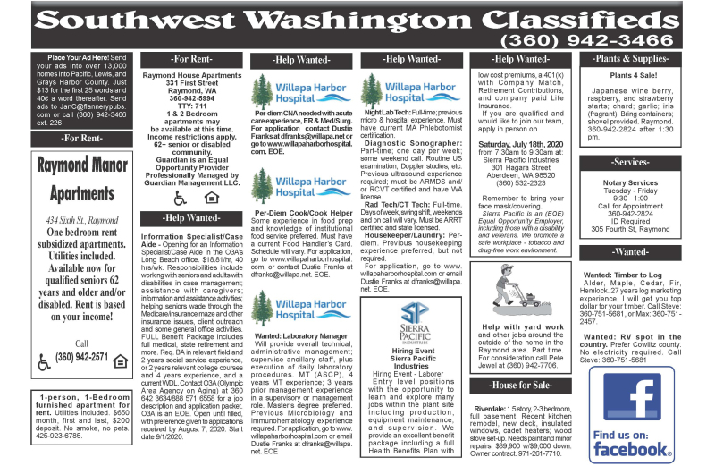 Classifieds 7.15.20