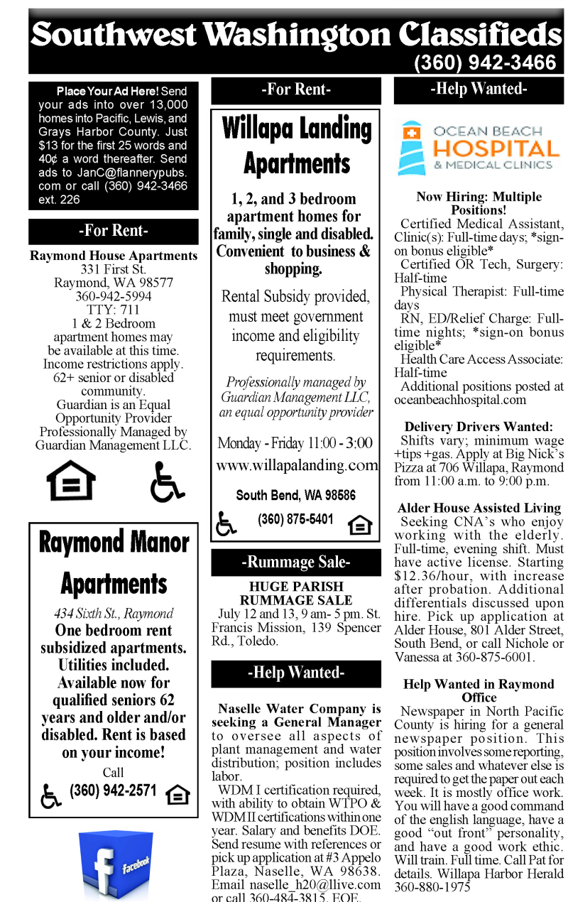 Classifieds 7.10.19