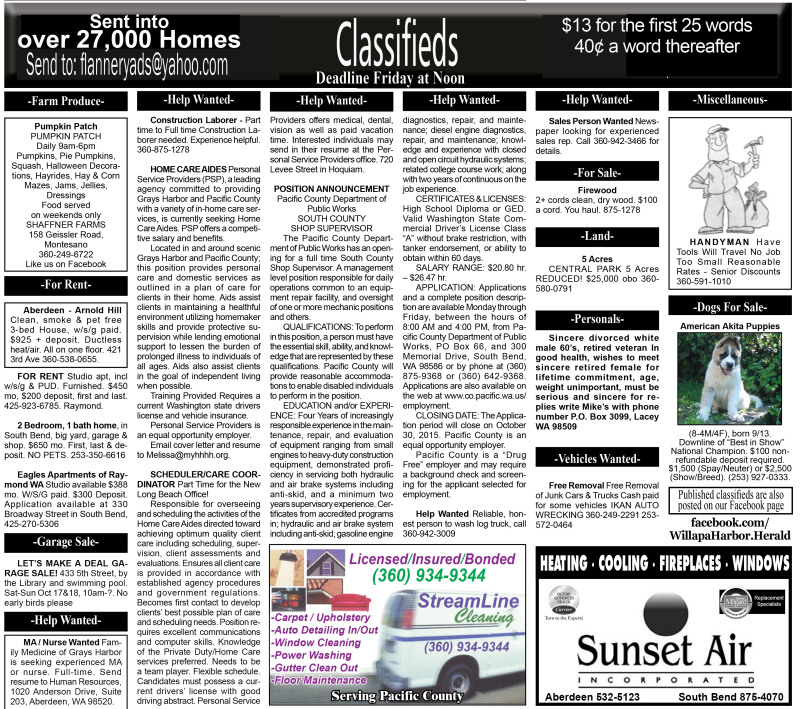 Classifieds 10.14.15