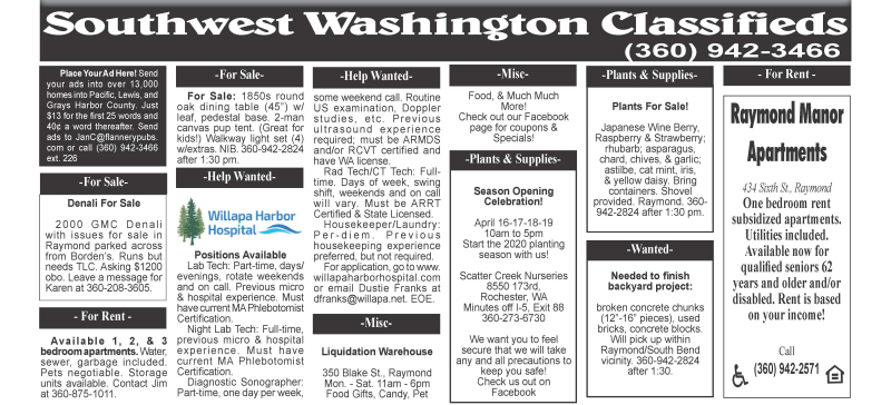 Classifieds 4.15.20
