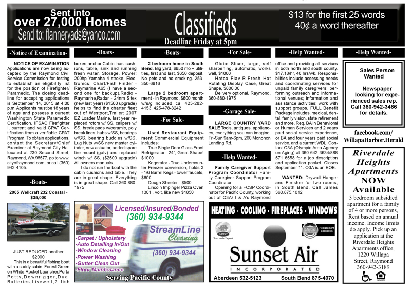 Classifieds 9.2.15