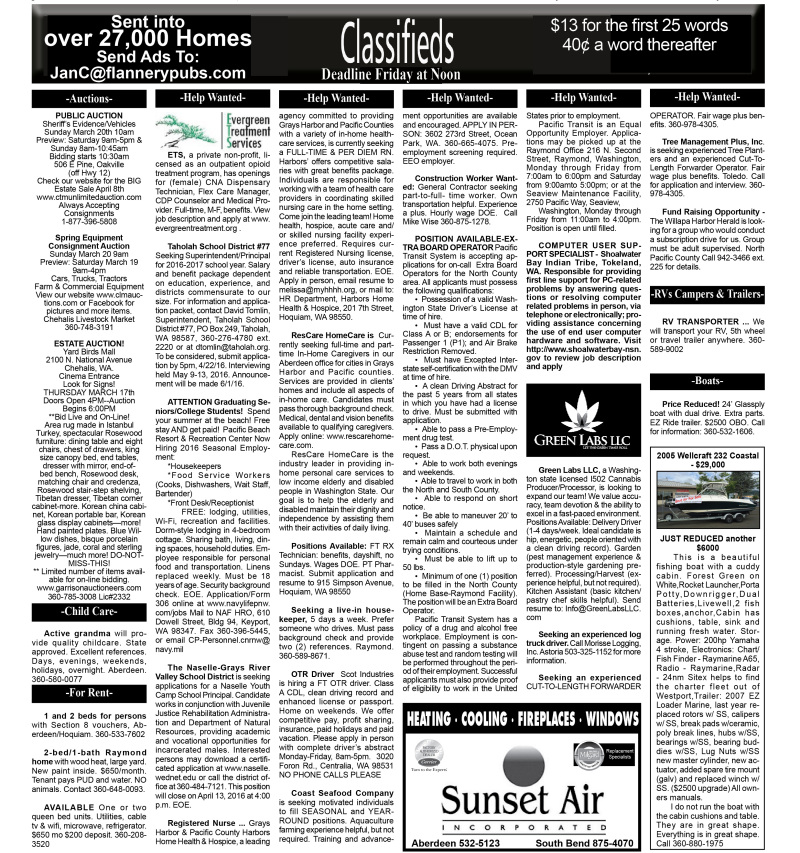 Classifieds 3.16.16