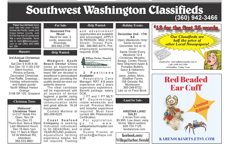 Classifieds 12.6.17