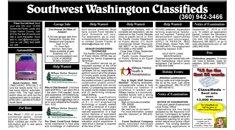 Classifieds 9.12.18
