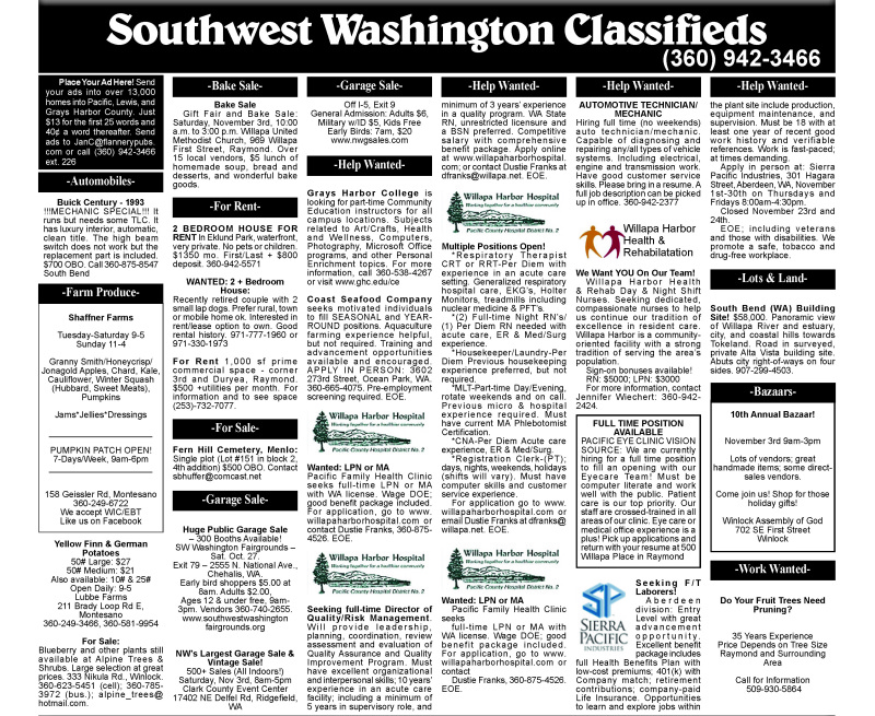 Classifieds 10.24.18