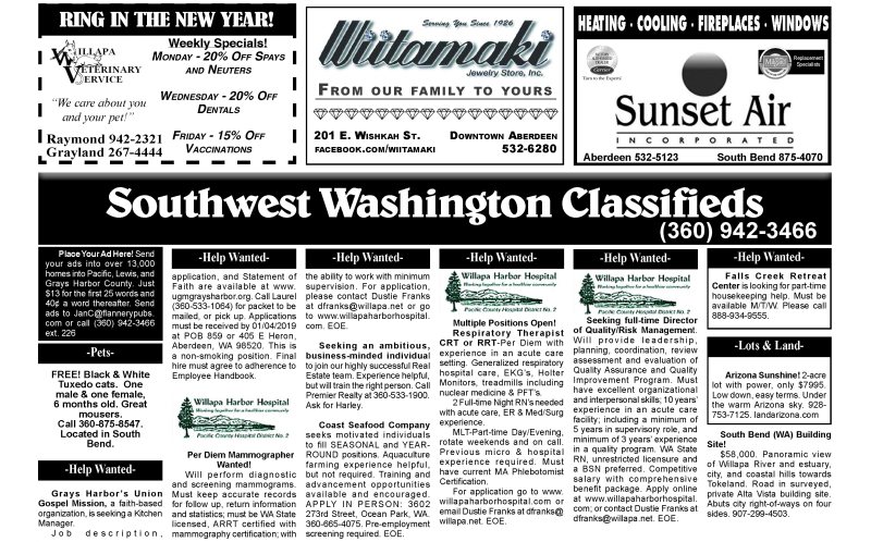 Classifieds 12.26.18