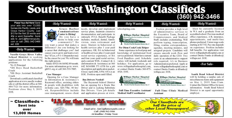 Classifieds 4.24.19