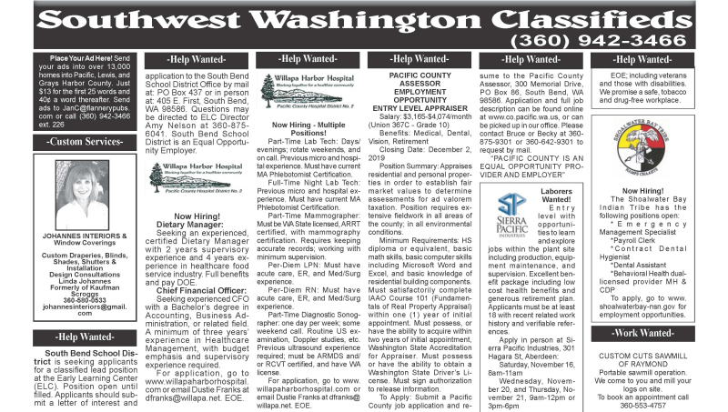 Classifieds 11.13.19