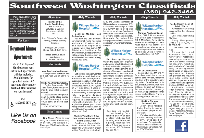 Classifieds 12.16.20