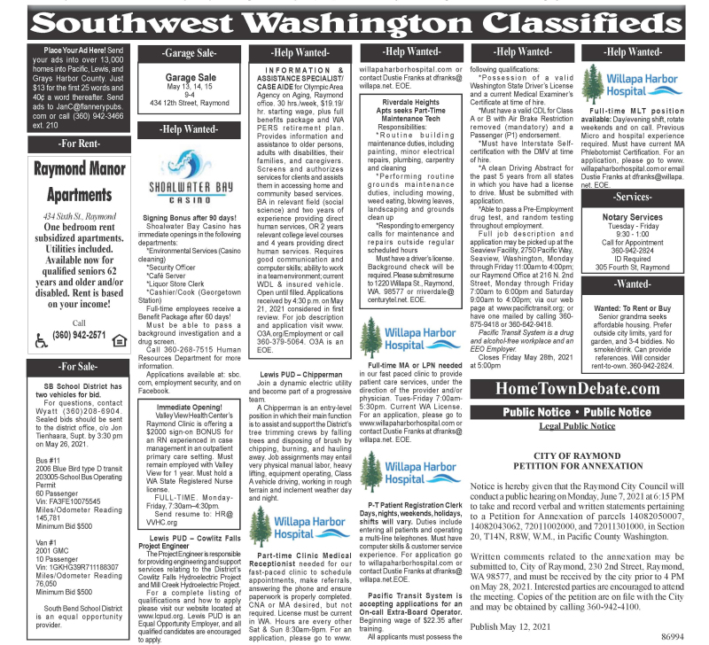 Classifieds 5.12.21