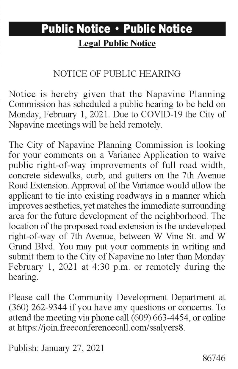 Legal Public Notice