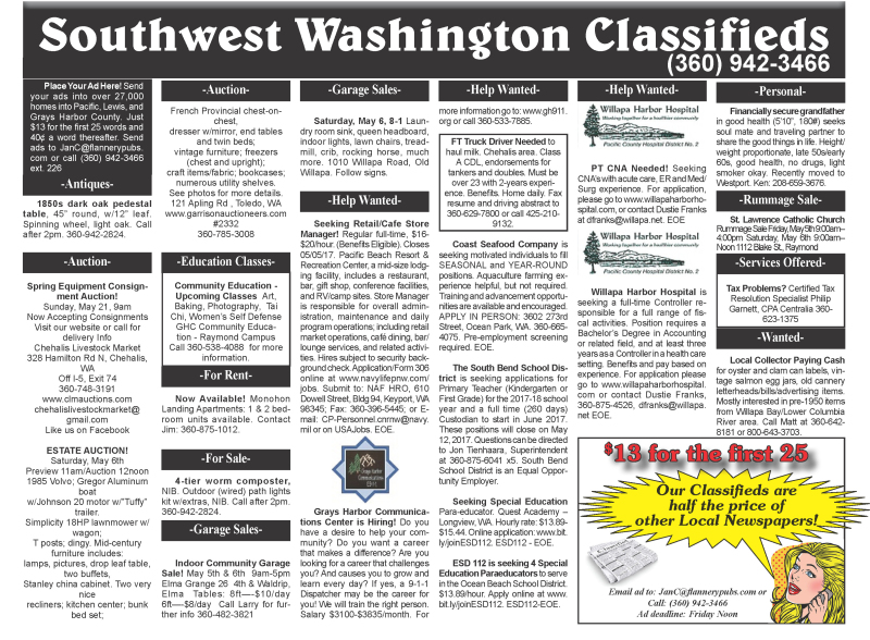 Classifieds 5.3.17