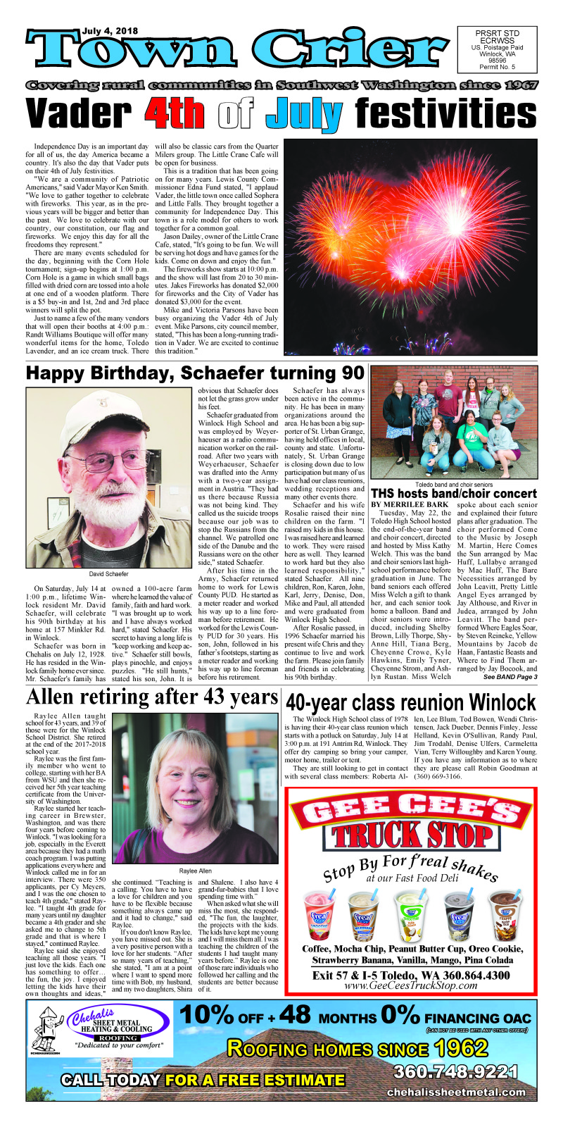 July 4, 2018 Town Crier