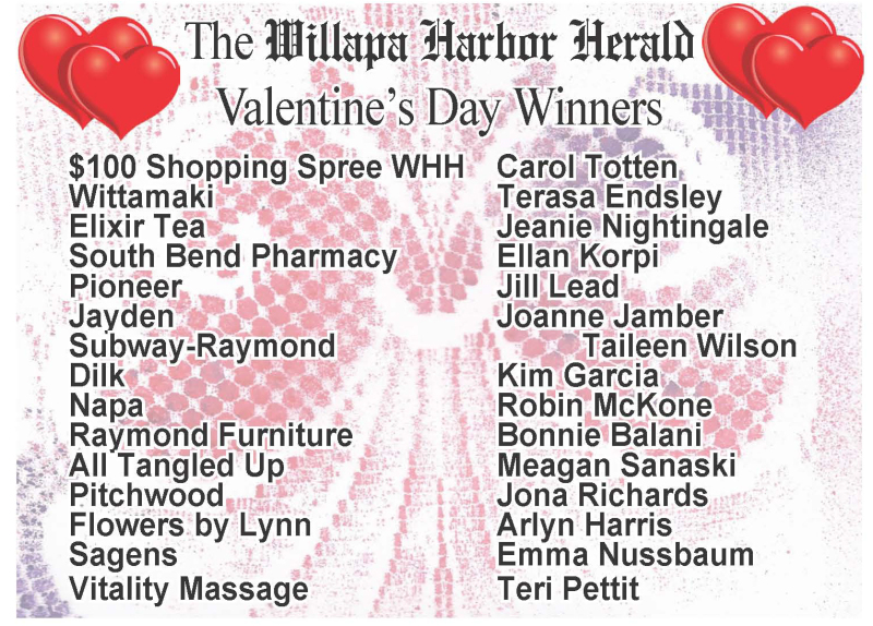 Valentines Winners