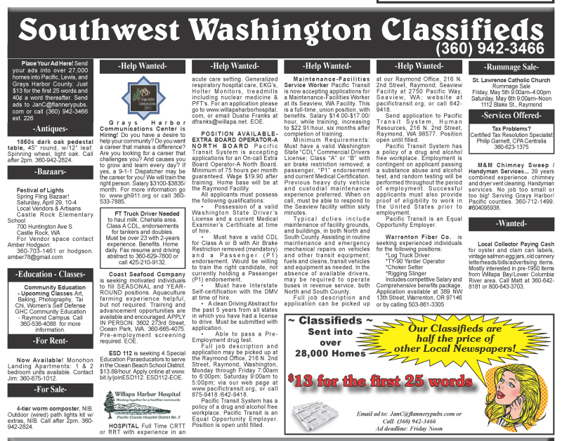 Classifieds 4.26.17