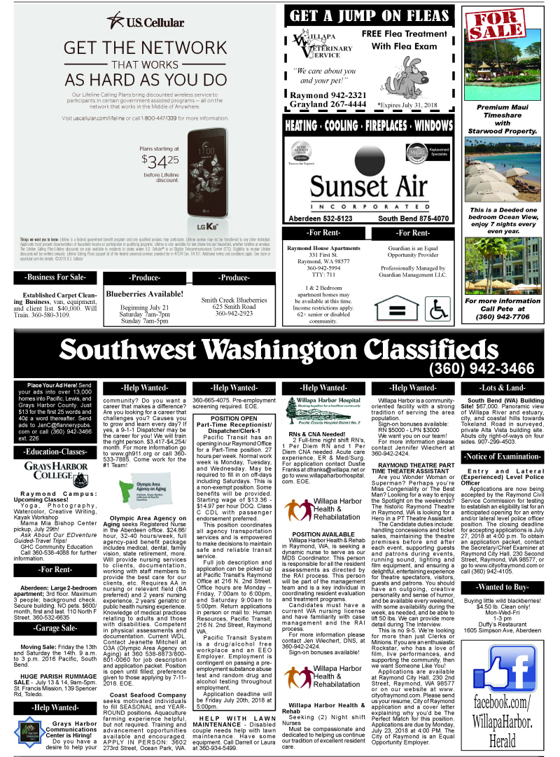 Classifieds 7.11.18