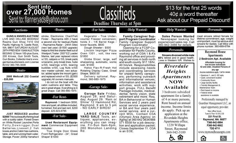 Classifieds 8.26.15
