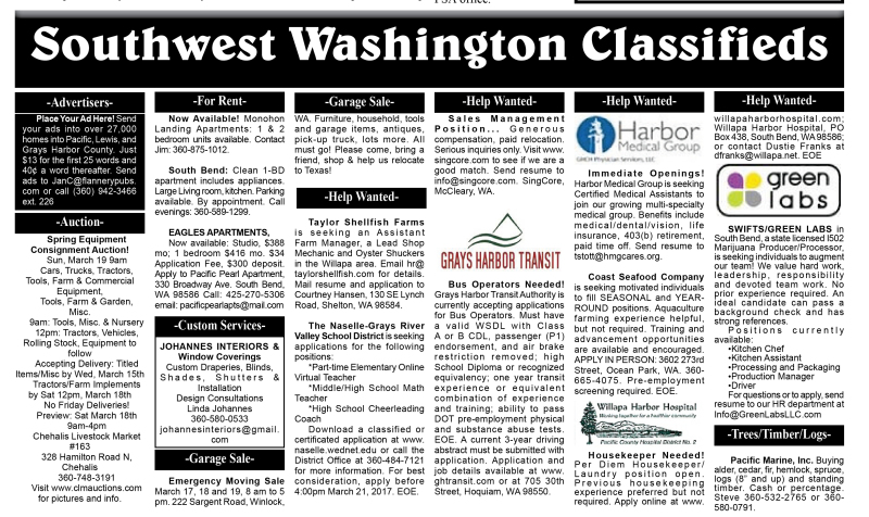 Classifieds 3.15.17