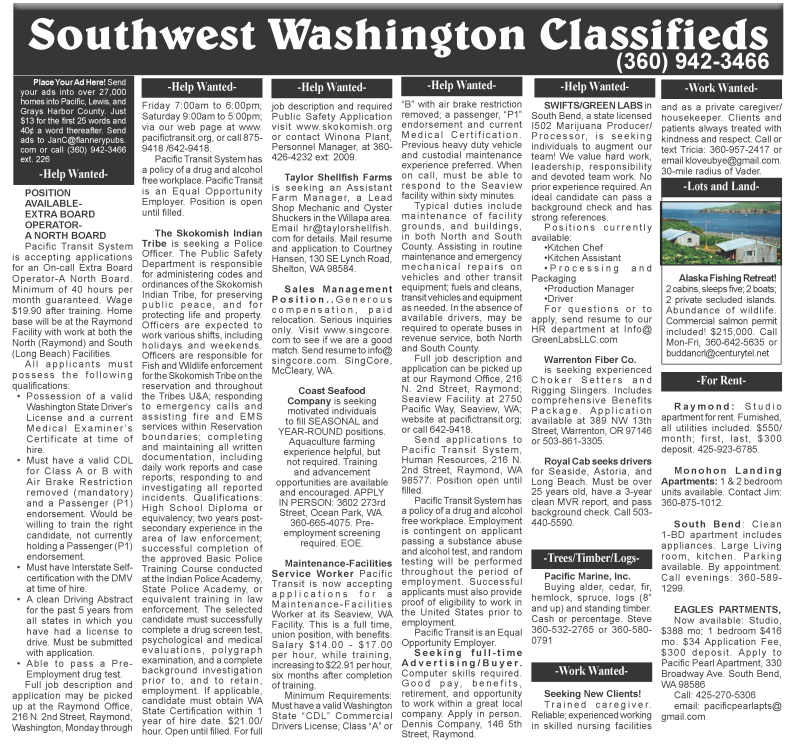 Classifieds 3.29.17