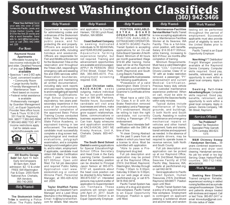 Classifieds 4.12.17
