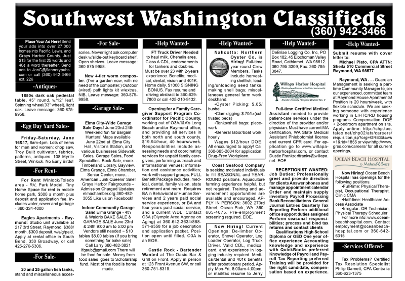 Classifieds 6.14.17