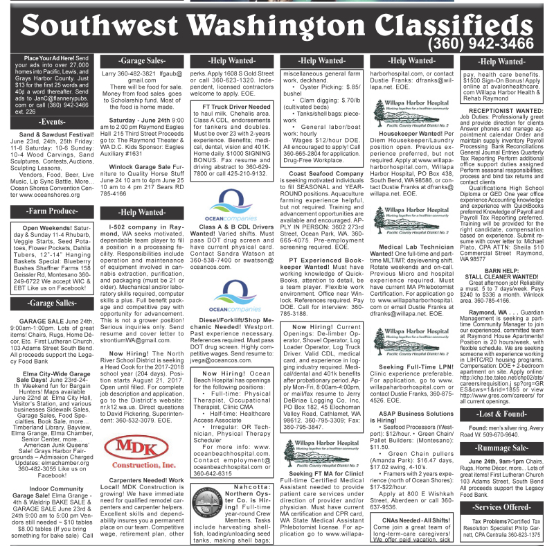 Classifieds 6.21.17