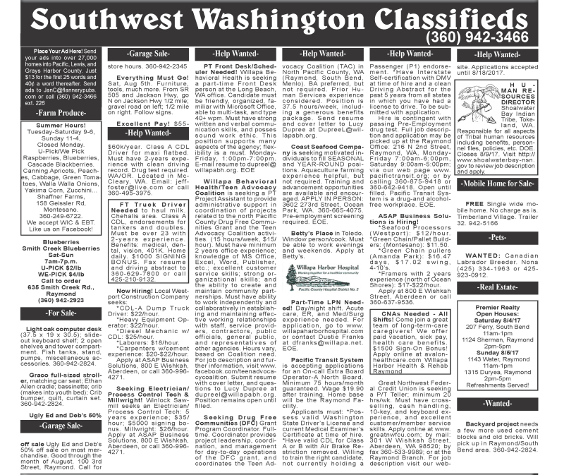 Classifieds 8.2.17