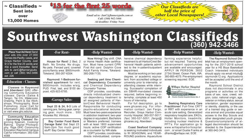 Classifieds 9.20.2017
