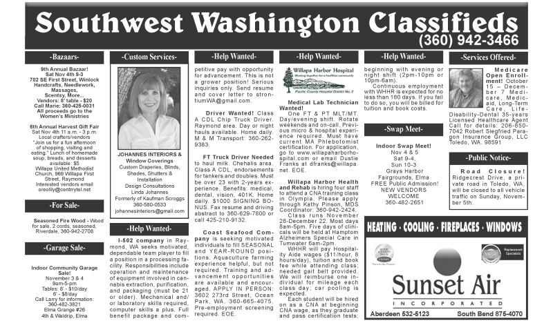 Classifieds 11.1.17