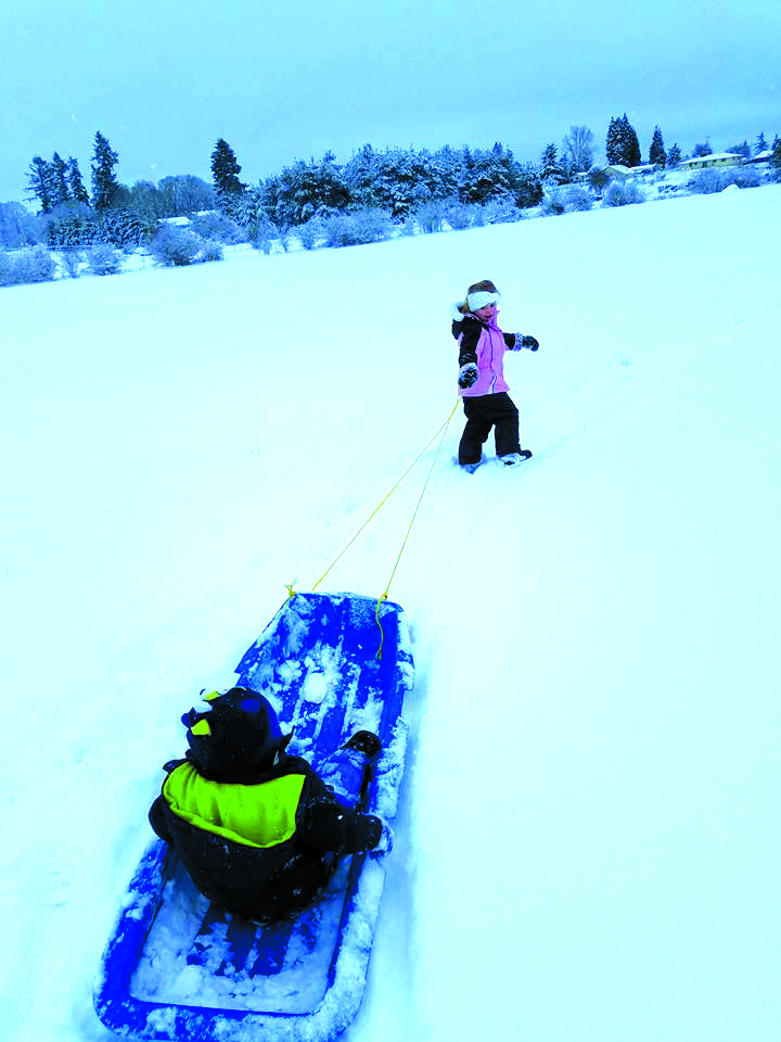 Photo contributed by Shannon Freeman - The latest snow fall in Lewis County gave kids the opportunity to go sledding.
