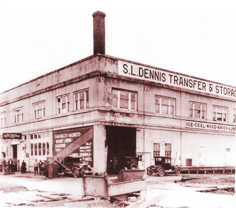 Photo contributed by William L. Austin - Dennis Company in 1925 when the lower level accomidated vehicles.