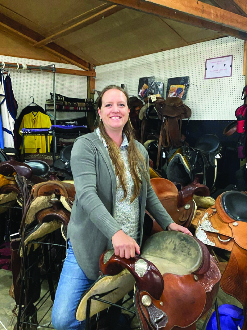 Emily Marshall at her High Tail Tack store located just outside of Toledo on Jackson Highway.