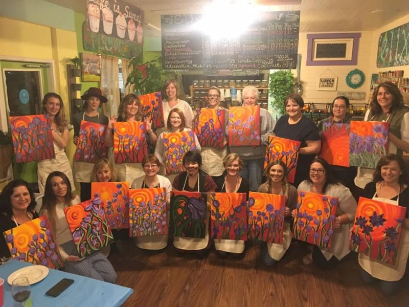 Paint and Sip benefits Crime Victims Awareness