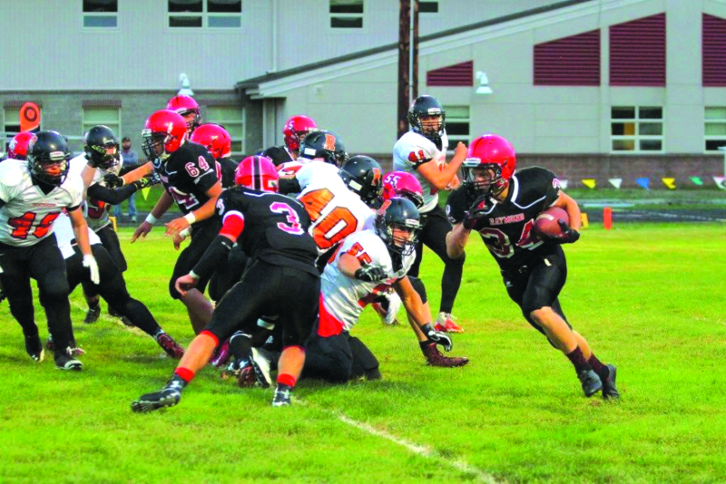 Photo by Larry Bale - Raymond takes on the mighty Napavine Tigers in its season opener September 3. The Tigers finished second in last year's state playoffs. Luke Abbott is the head coach for the Seagulls.