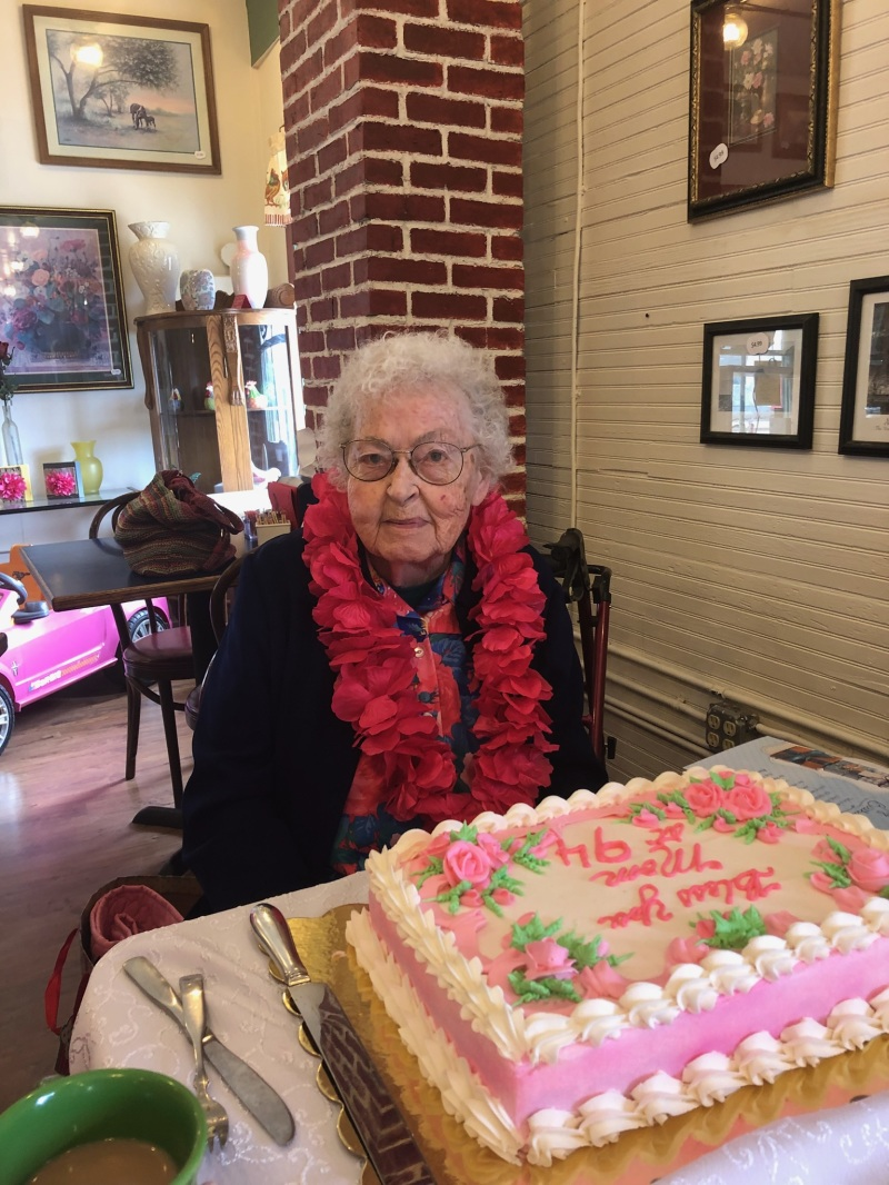 Mary Ann Longsine, resident of Winlock, turned 94 this month.