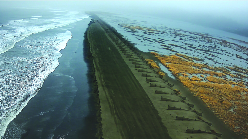 US Army Corps take action to repair the Shoalwater Bay Barrier Dune